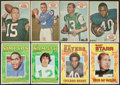 Football Cards:Sets, Topps Football - 1968 Posters, 1970 Posters and 1971 Pin-Ups Complete Set Trio (3)....