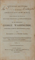 Books:Americana & American History, George Washington. Official Letters to the Honorable AmericanCongress, Written, during the War between the United Colon...(Total: 2 Items)