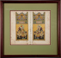 Books:Prints & Leaves, [Illuminated Manuscript]. Indian or Persian Illuminated Manuscript.[N.p., n.d.]. Two leaves taken from a book, on one sheet...