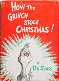 Books:Children's Books, Dr. Seuss. How the Grinch Stole Christmas! New York: RandomHouse, [1957]. First edition in first issue dust jac...