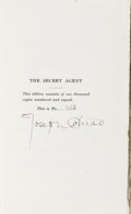 Books:Signed Editions, Joseph Conrad. The Secret Agent, A Drama in ThreeActs. London: Privately Published for Subscribers Only by T.W...