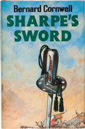 Books:Signed Editions, Bernard Cornwell. Sharpe's Sword. London: Collins, [1983].First edition. Signed by Cornwell on the title page....