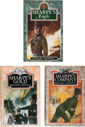 Books:Fiction, Bernard Cornwell. Three Signed Richard Sharpe FirstEditions, including: Sharpe's Eagle: RichardSharpe an... (Total: 3 Items)