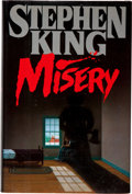 "Books:Horror & Supernatural, Stephen King. Misery. [New York]: Viking, [1987]. Firstedition. Inscribed and signed by the author, ""For Bria..."