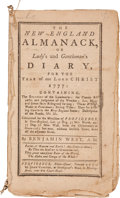 Books:Americana & American History, Benjamin West. The New-England Almanack, or Lady's andGentleman's Diary, for the Year of our Lord Christ 1777...Pr...