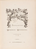 Books:Literature Pre-1900, A. V. W. [Ames Van Wart]. A Recollection of WondrousWanderings. Fontainebleau [London: William Macintosh, 1864]...