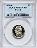 Proof Jefferson Nickels: , 1979-S 5C Type One PR69 Deep Cameo PCGS. PCGS Population (4715/48).NGC Census: (439/10). Numismedia Wsl. Price for proble...