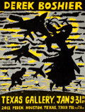 Prints:Contemporary, DEREK BOSHIER (British, b. 1937). Two Lithographic Posters.Derek Boshier. Texas Gallery, Jan 9-31, 1987, 1987. Li...(Total: 2 Items)