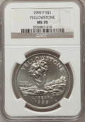 Modern Issues: , 1999-P $1 Yellowstone Silver Dollar MS70 NGC. NGC Census: (449).PCGS Population (255). Numismedia Wsl. Price for problem ...