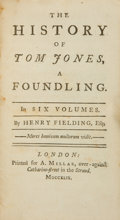 Books:Literature Pre-1900, Henry Fielding. The History of Tom Jones, a Foundling. Insix volumes. London: Printed for A. Millar, 1749.... (Total: 6Items)