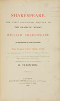Books:Literature Pre-1900, William Shakespeare. The First Collected Edition of the DramaticWorks of William Shakespeare. A Reproduction in e...