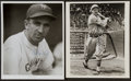 Baseball Collectibles:Photos, Ernie Lombardi and Carl Hubbell Signed Photographs Lot of 2....