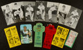 Baseball Collectibles:Tickets, 1961 All Star Game Ticket Stub And a Pair of 1960 World SeriesPress Passes....