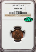 Proof Lincoln Cents, 1909 1C PR65+ Red and Brown NGC....