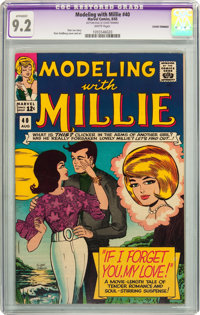 Modeling with Millie #40 (Marvel, 1965) CGC Apparent NM- 9.2 White pages