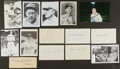 Baseball Collectibles:Others, Baseball Greats Signed Memorabilia Lot of 14....