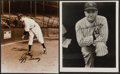 Baseball Collectibles:Photos, Joe McCarthy and Lefty Gomez Signed Photographs Lot of 2....