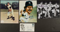Baseball Collectibles:Others, New York Yankees Greats Signed Memorabilia Lot of 4....