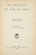 Books:Literature Pre-1900, Joseph Conrad. An Outcast of the Islands. New York: D.Appleton and Company, 1896. First American edition. Twelvemo....
