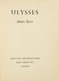Books:Literature 1900-up, James Joyce. Ulysses. London: John Lane / The Bodley Head,[1936]. First British Limited edition, one of 900 hand-...
