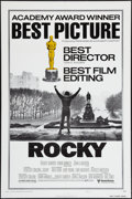 "Movie Posters:Academy Award Winners, Rocky (United Artists, 1977). Lobby Cards (7) (11"" X 14"") and OneSheet (27"" X 41"") Style B Academy Awards Style. Academy Aw...(Total: 8 Items)"