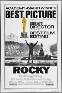 "Rocky (United Artists, 1977). Lobby Cards (7) (11"" X 14"") and One Sheet (27"" X 41"") Style B Academy..."