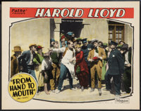 """From Hand to Mouth (Pathé, R-1920s). Lobby Card (11"""" X 14""""). Comedy"""
