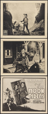 """The Moon Riders (Universal, 1920). Title Lobby Card & Lobby Cards (2) (11"""" X 14""""). Episode 2 -- """"The..."""