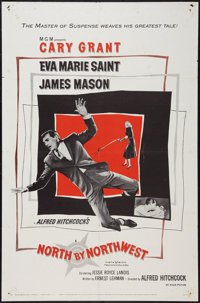"North by Northwest (MGM, 1959). One Sheet (27"" X 41""). Hitchcock"