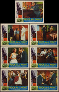 "Movie Posters:Rock and Roll, Rock All Night (American International, 1957). Lobby Cards (7) (11""X 14""). Rock and Roll.. ... (Total: 7 Items)"