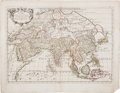 Books:Maps & Atlases, Guglielmo Sansone. l'Asia. Roma: 1677. Hand-colored mapshowing Asia from India to Japan, including the Philippi...
