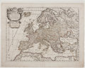 Books:Maps & Atlases, Guglielmo Sansone. l'Europa. Roma: 1677. Hand-colored mapdepicting the entire European continent. In very good cond...