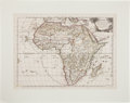 Books:Maps & Atlases, Guglielmo Sansone. l'Africa. Roma: 1677. Hand-colored mapdepicting the entire continent of Africa. In very good con...