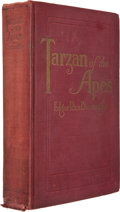 Books:Fiction, Edgar Rice Burroughs. Tarzan of the Apes. Chicago: A. C. McClurg, 1914. First edition of the first Tarzan book...