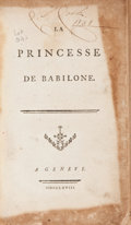 Books:Literature Pre-1900, [François-Marie Arouet de Voltaire]. La Princesse de Babilone. A Geneve (London), 1768. Pirated printing of the firs...