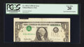 Error Notes:Inverted Third Printings, Fr. 1921-F $1 1995 Federal Reserve Note. PCGS Very Fine 20.. ...