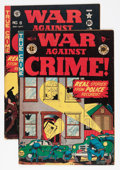 Golden Age (1938-1955):Crime, War Against Crime #4 and 8 Group (EC, 1948-49) Condition: Average VG.... (Total: 2 Comic Books)