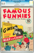 Platinum Age (1897-1937):Miscellaneous, Famous Funnies #27 (Eastern Color, 1936) CGC VF 8.0 White pages....