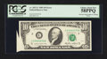 Error Notes:Foldovers, Fr. 2027-C $10 1985 Federal Reserve Note. PCGS Choice About New 58PPQ.. ...