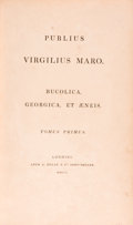 Books:Literature Pre-1900, [Virgil]. Publius Virgilius Maro. Bucolica, Geogica, etAeneis. London: A. Dulau & Co., 1800. Approximately 10.25 x... (Total: 2 Items)