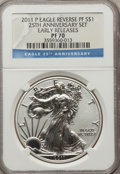 2011-P $1 Silver Eagle, 25th Anniversary, Reverse Proof, Early Releases PR70 NGC. NGC Census: (0). PCGS Population (3346...