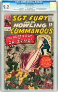 Silver Age (1956-1969):War, Sgt. Fury and His Howling Commandos #8 (Marvel, 1964) CGC NM- 9.2 Off-white to white pages....