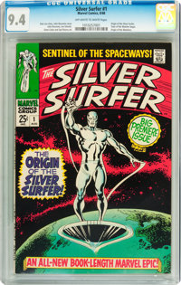 The Silver Surfer #1 (Marvel, 1968) CGC NM 9.4 Off-white to white pages