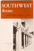 Books:Americana & American History, Southwest Review. Thirteen Issues. Dallas: SMU, [1933] and[1978-1981]. First editions. Octavo wrappers. Near fine o...