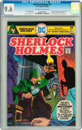 Bronze Age (1970-1979):Miscellaneous, Sherlock Holmes #1 (DC, 1975) CGC NM+ 9.6 Off-white to white pages....