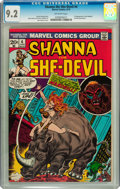 Bronze Age (1970-1979):Western, Shanna the She-Devil #4 (Marvel, 1973) CGC NM- 9.2 Off-white pages....