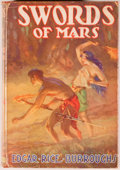 Books:Science Fiction & Fantasy, [Jerry Weist]. Edgar Rice Burroughs. Swords of Mars. New York: Grosset & Dunlap, [1938]. Later edition with two ...