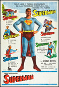 "Movie Posters:Action, Superman (20th Century Fox, c. 1955). Argentinean Poster (29"" X43""). Action.. ..."