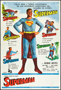 """Superman (20th Century Fox, c. 1955). Argentinean Poster (29"""" X 43""""). Action"""