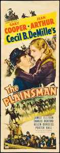 "Movie Posters:Western, The Plainsman (Paramount, 1936). Insert (14"" X 36""). Western.. ..."